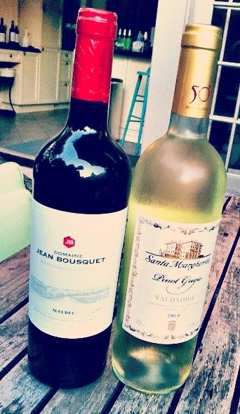 red wine white wine combo