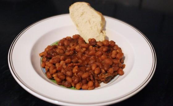 homemade baked beans for dinner