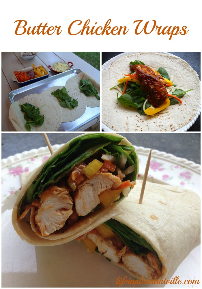 butter chicken wraps