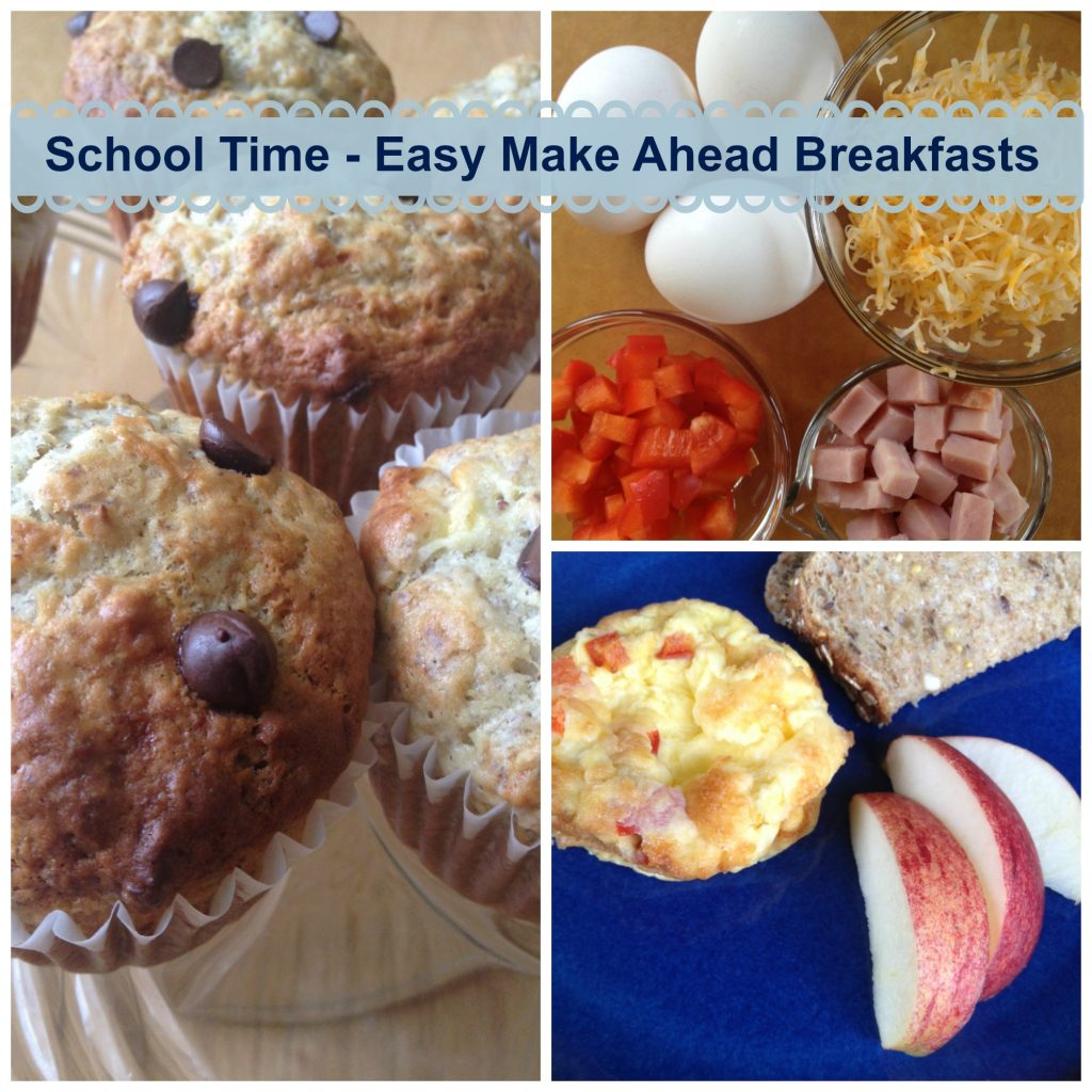 make ahead school breakfast recipes, Muffin and Frittata Collage