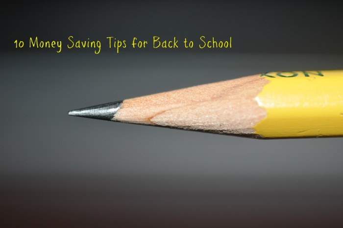 money saving tips for back to school