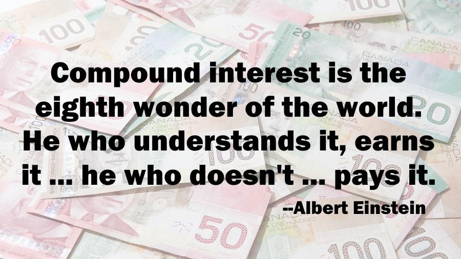 RBC RESP Einstein, compound interest quote Einstein