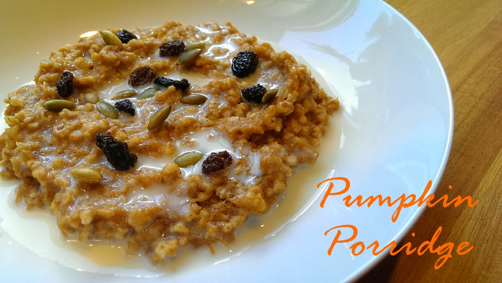 Steel Cut Oatmeal with Pumpkin Puree
