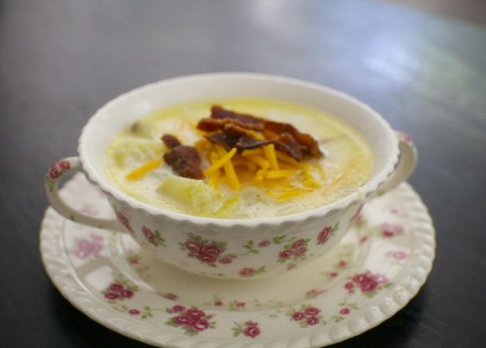 potato leek soup, comfort food,