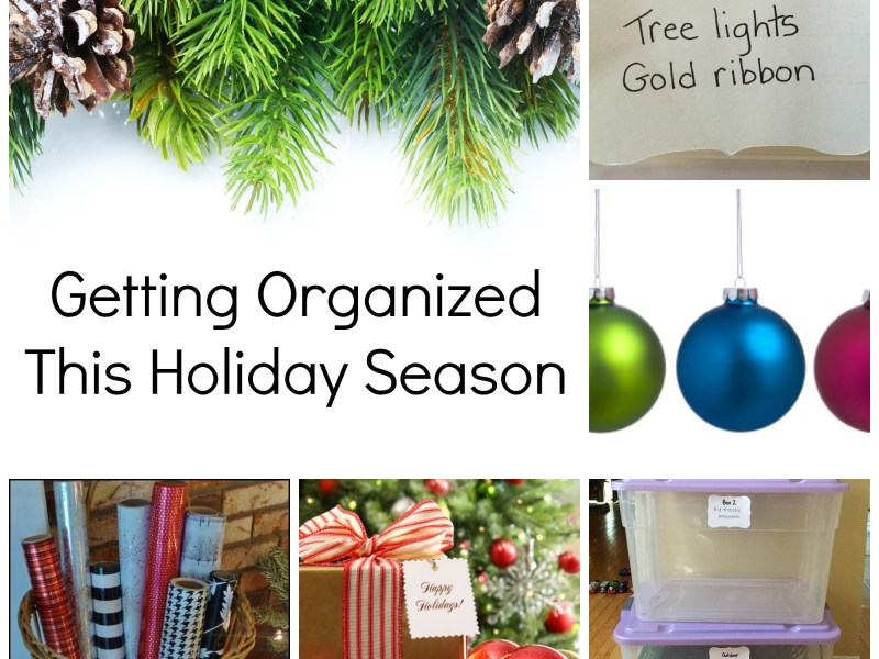 Getting organized this holiday season