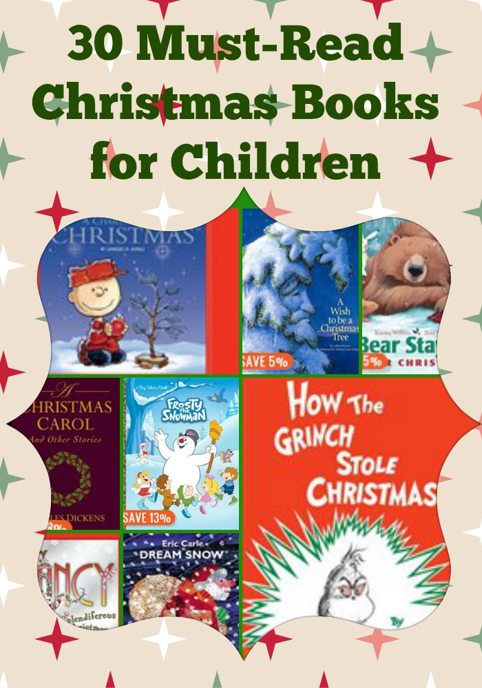 children's christmas books, LIP 30 Must Read Christmas Books collage