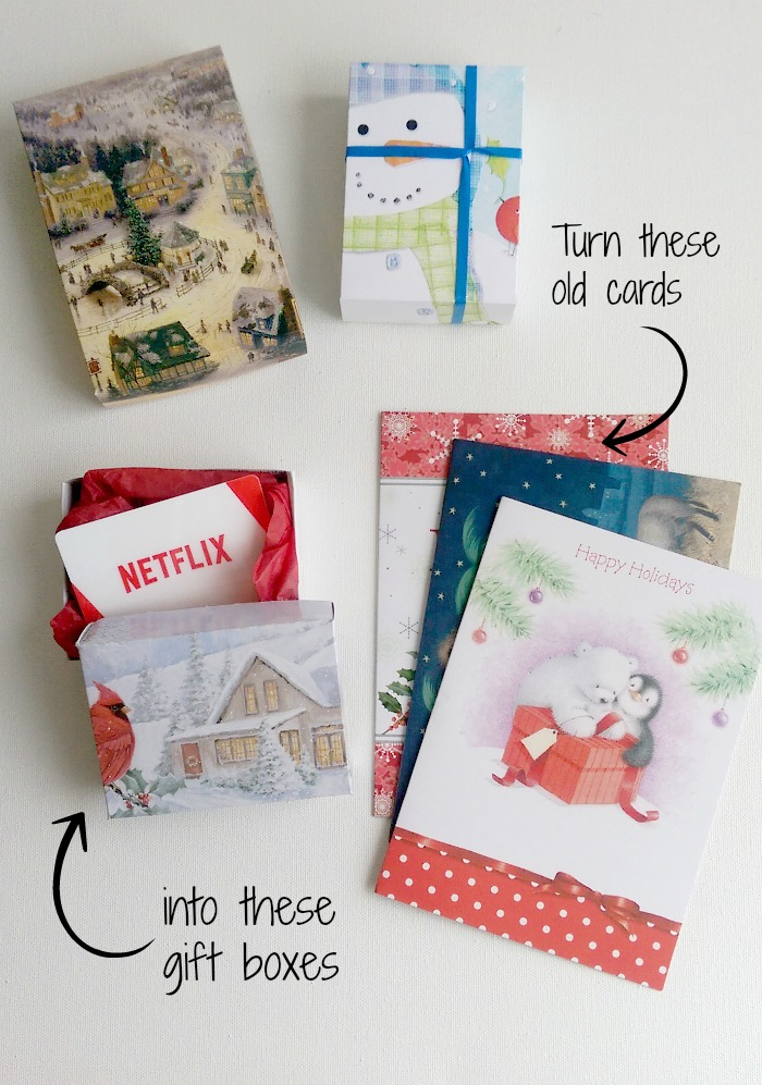 DIY Gift Boxes: up-cycle Christmas Cards!, craft, holidays, Christmas, Christmas cards, cards, gift boxes, recycle, up-cycle, smart idea