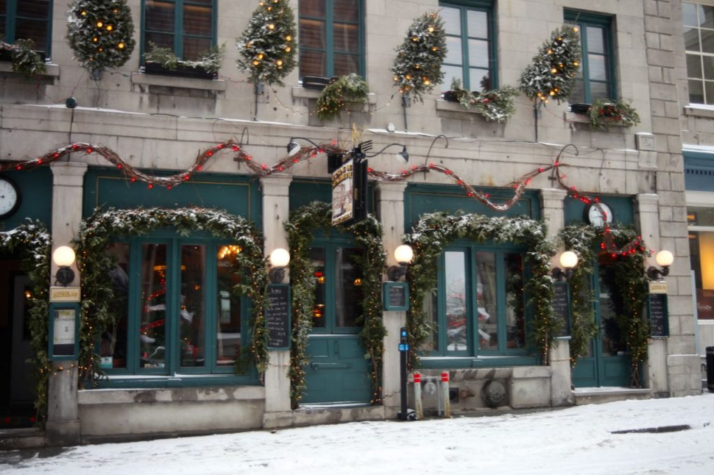 Winter Wonderland, old montreal, charm, restaurants