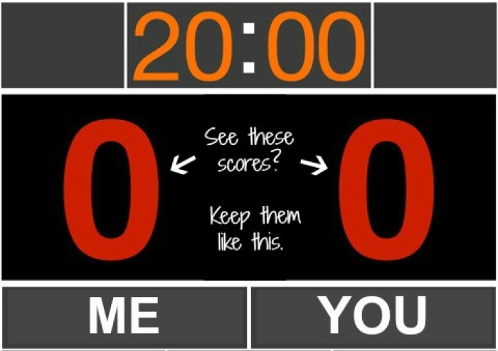 Score board, How To Be A Good Partner, marriage, karate, humour, partners, advice, tips, relationships
