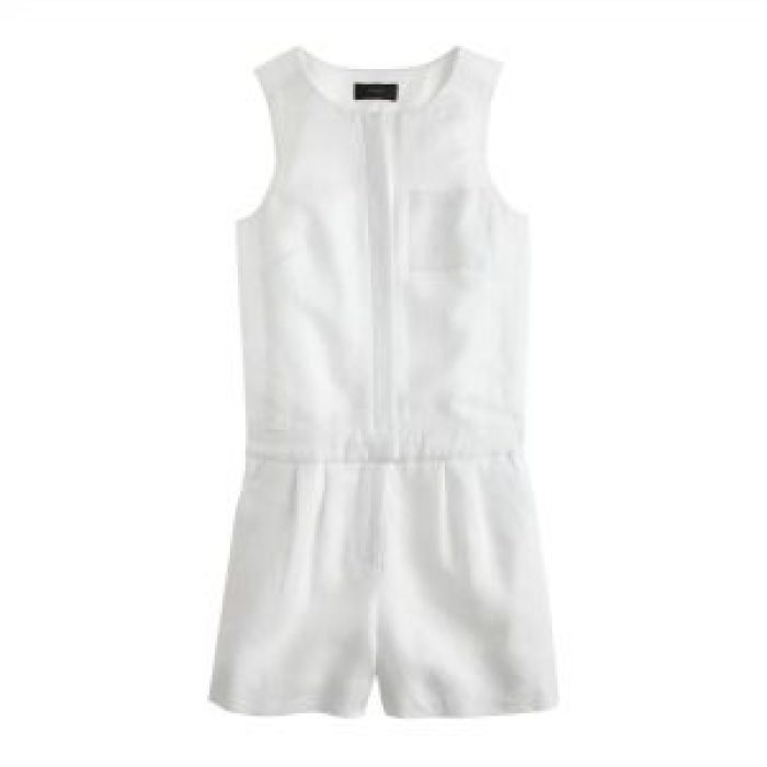 What to Wear to A White Party, white-party-jcrew-romper