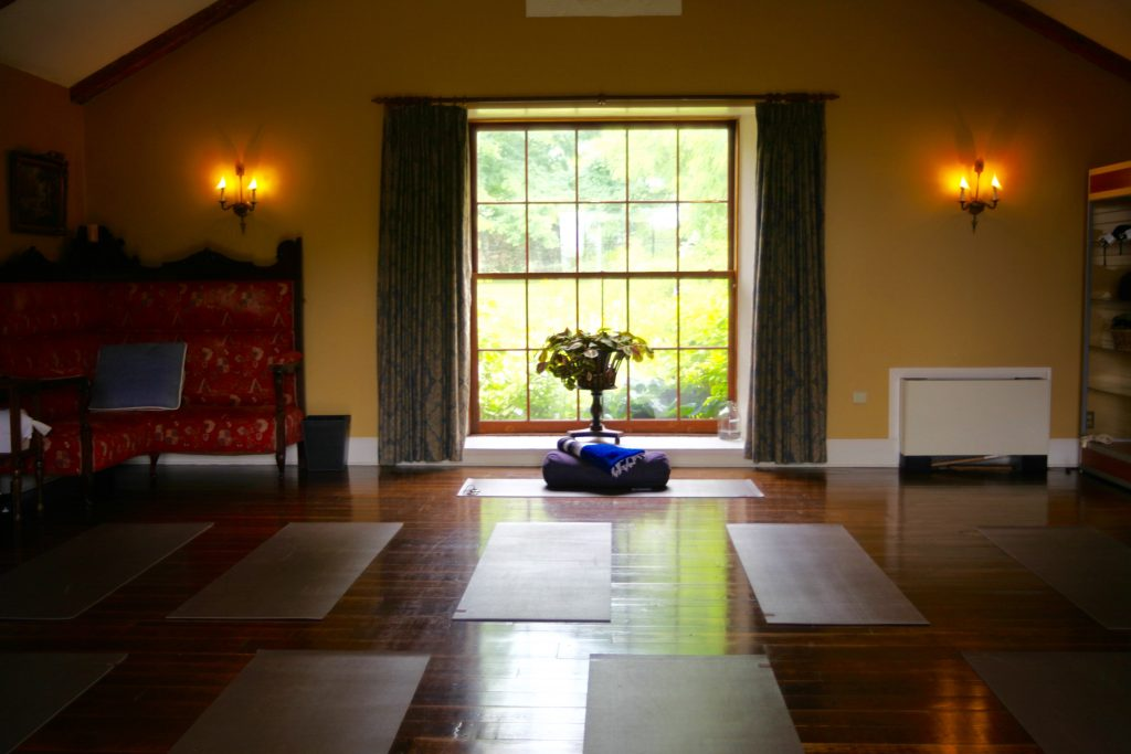 Ste. Anne's Spa, Yoga Studio with floor to ceiling windows overlooking impeccable grounds, Canada, Ontario, Top Destination Spa