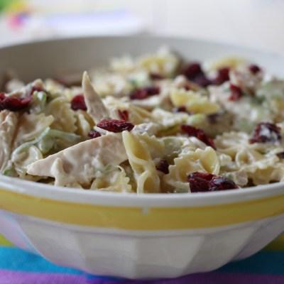 Cranberry Turkey Bowtie Salad