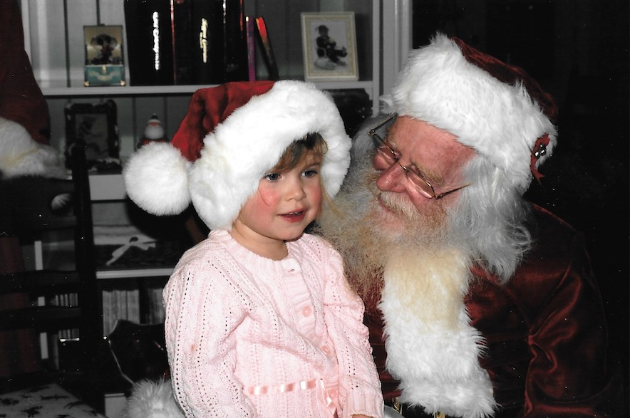 Believe Santa Claus, Sitting on Santa's lap. My youngest believes in Santa Claus
