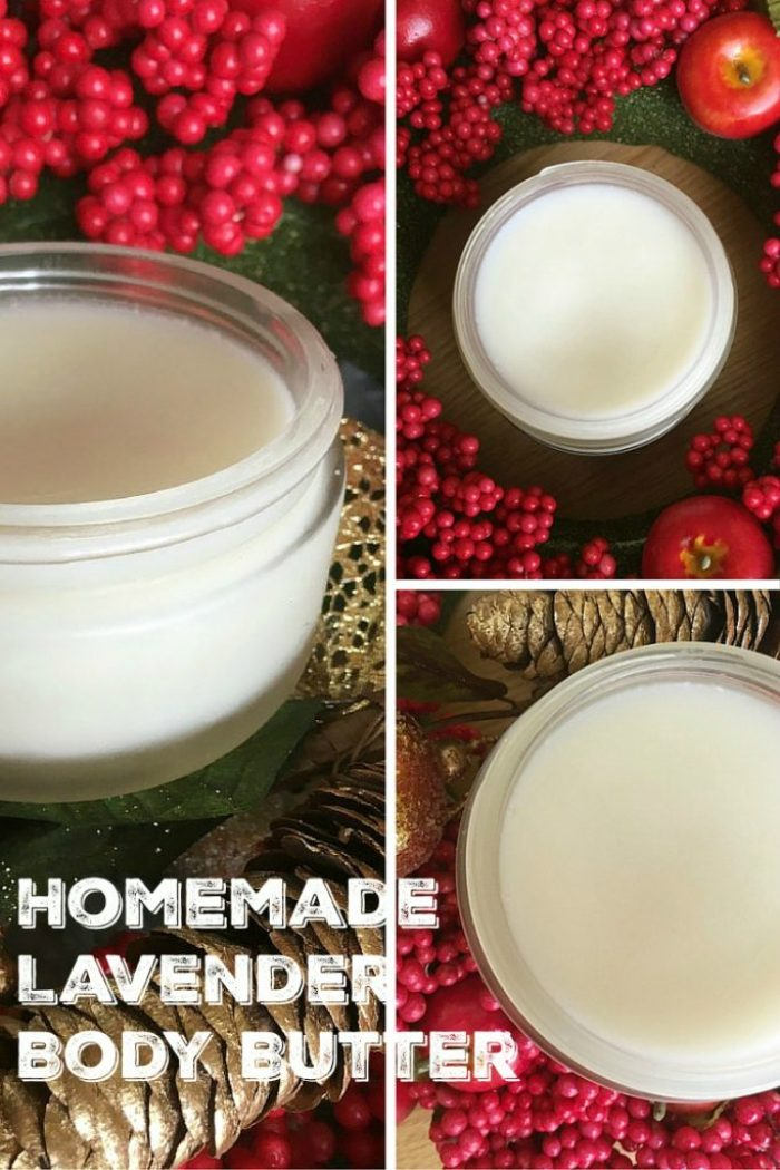 Homemade DIY coconut oil body butter with lavender