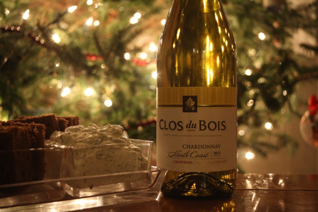 Clos du Bois wine with smoked salmon