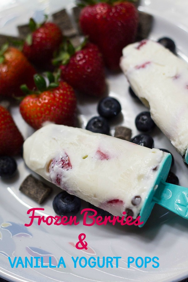 Frozen Berries and Vanilla Yogurt Pops