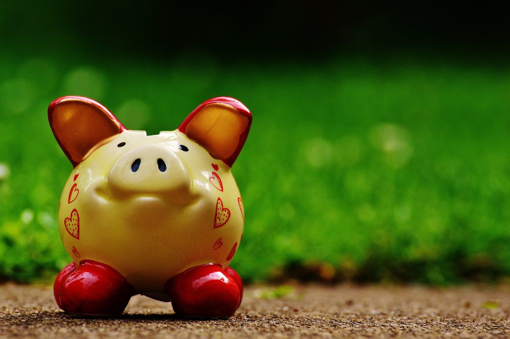 how to be financially fit at any age, piggy-bank