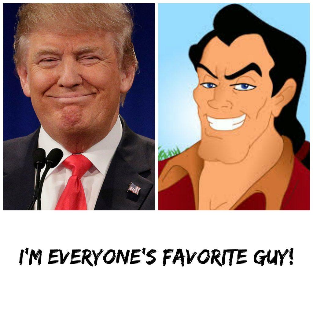 Donal Trump and Disney's Gaston