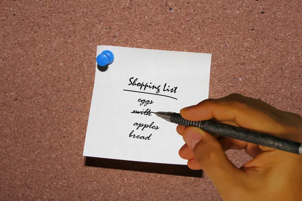 greenlid, shopping list, plan before you shop, reducing waste