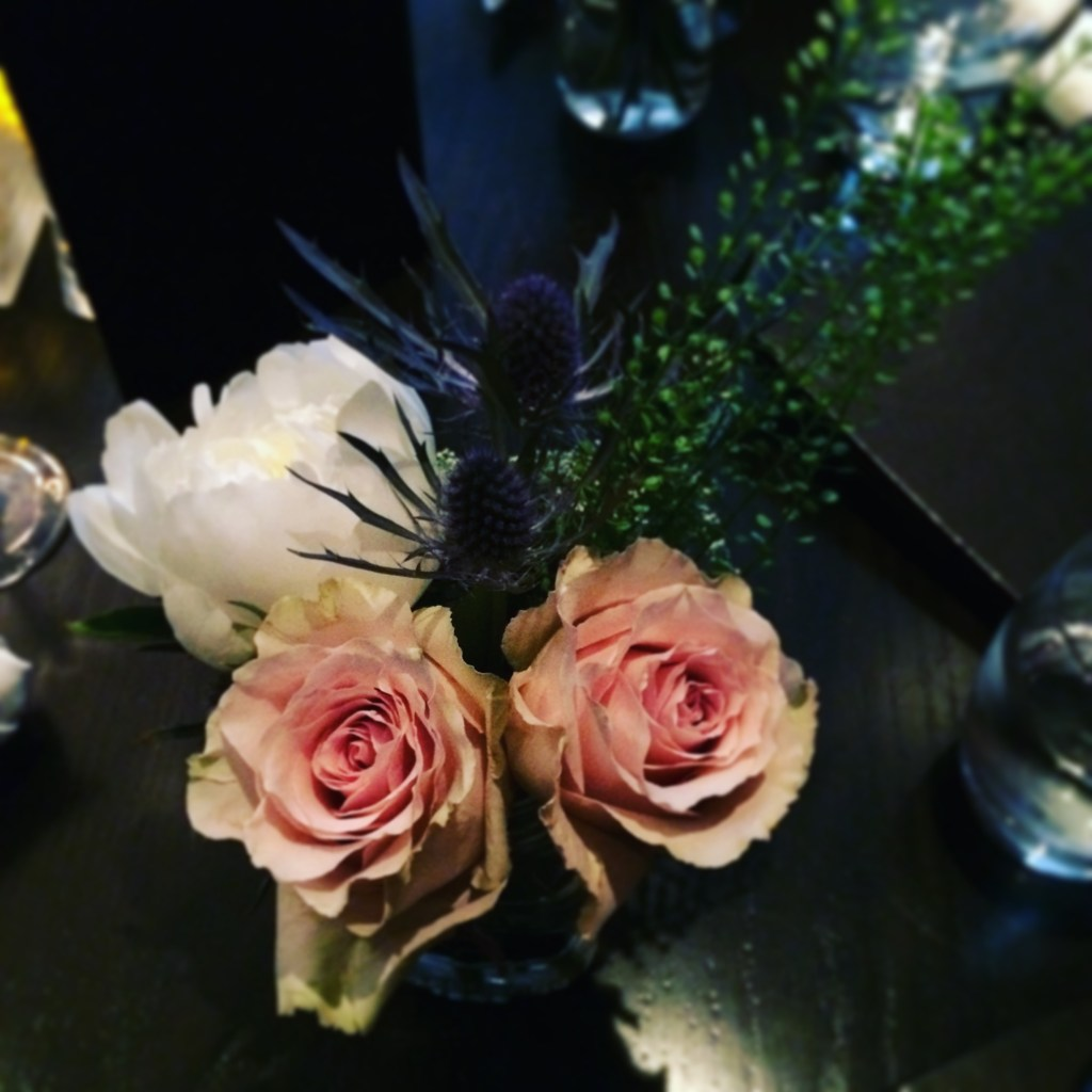 The Keg, flowers on the table, mother's day dinner