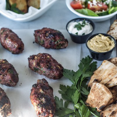 Beef Kafta (Lebanese Meatballs on a Stick)