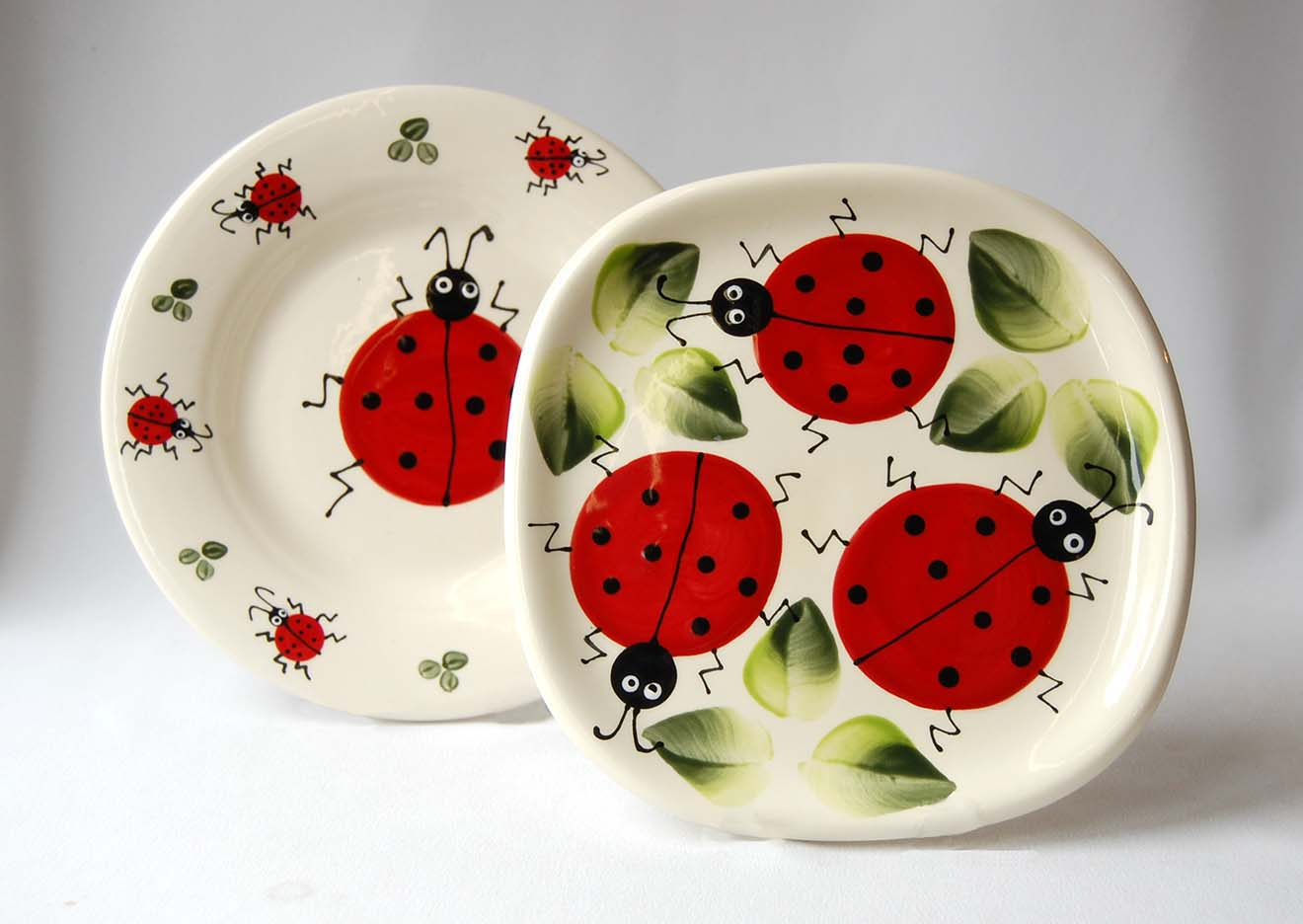 Ladybug ladybird lady bug plates Nova Scotia Jennifer's of Nova Scotia summer
