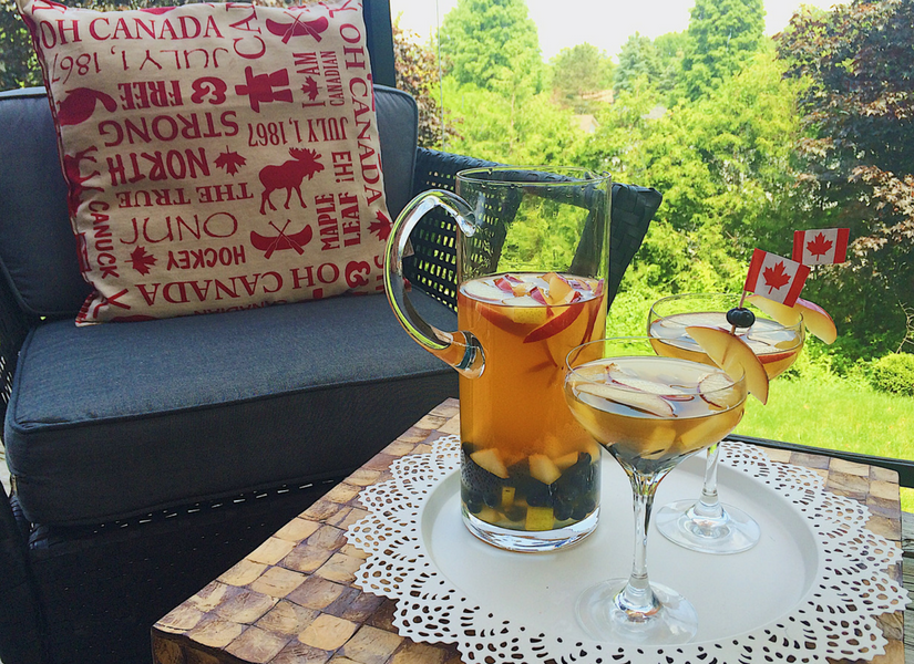 canadian sangria, celebrate Canada Day