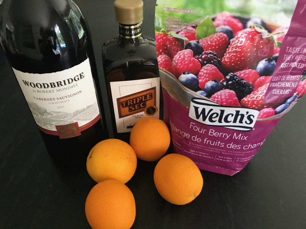 Frozen Sangria, how to make, ingredients needed