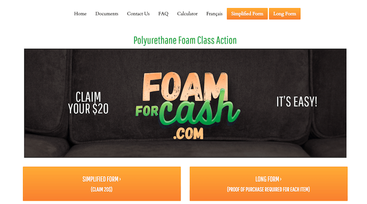 foam for cash