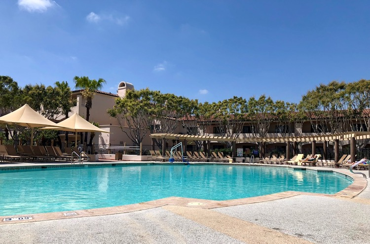 one day in santa barbara, pool time, relax, recharge in Santa Barbara