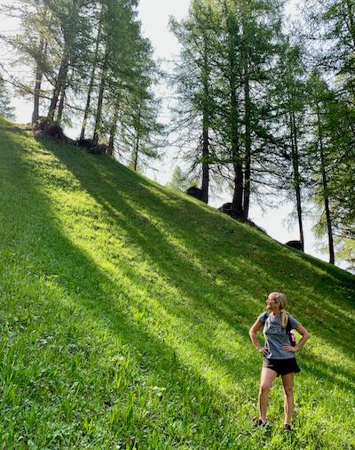 Hiking in Italy, Dolomites, San Cassiano, Italian Alps