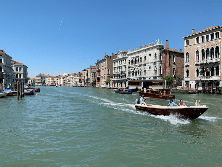 Grand Canal in Venice, early morning before filled with boats, before you go to Venice, travel tips for Venice