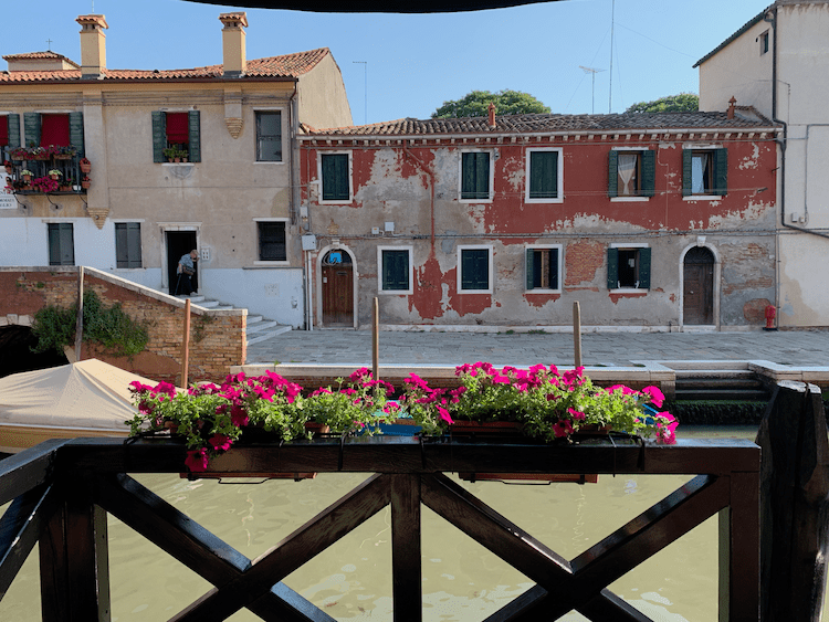 View from Eurostars Residenzia Cannaregio, travel tips for Venice, quiet areas to stay in Venice