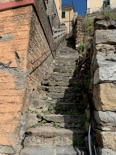 Steep stairs in Riomaggiore, Cinque Terre