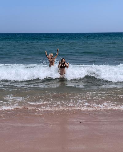Ingonish Beach, best waves in Cape Breton, fun in the ocean