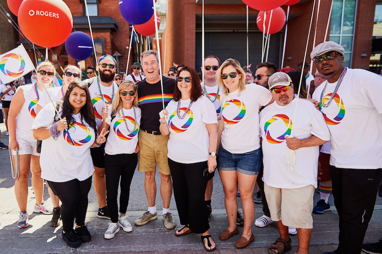 Rogers Staff ready to March at Ottawa Pride Parade