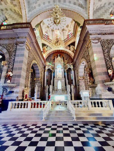 Interior of Immaculate Conception Basilica in historic district of Mazatlán