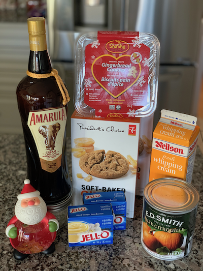 ingredients for Individual gingerbread trifle