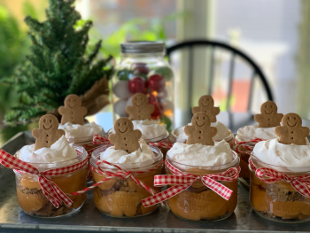 individual gingerbread trifle
