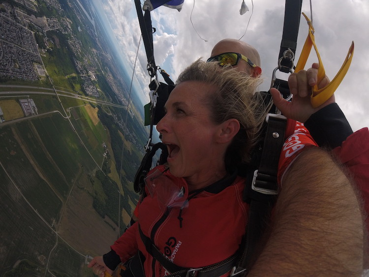 Jumping out of a plane, pursuing happiness at any cost, how to be happy when you're sad