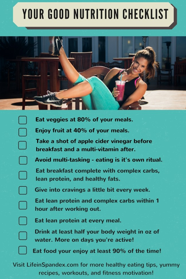 10 Secrets for Weight Loss - Your Good Nutrition Checklist