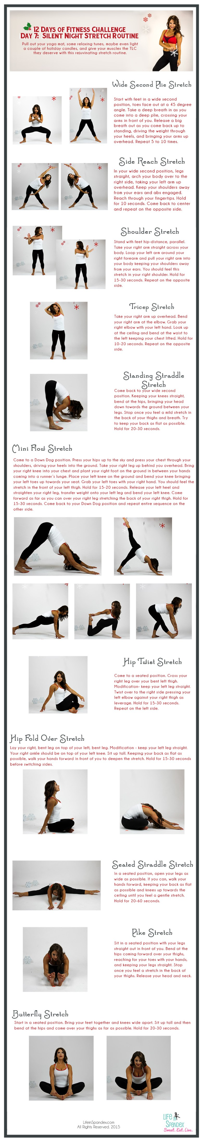 12 Days of Fitness Day 7 Stretch Yoga Routine