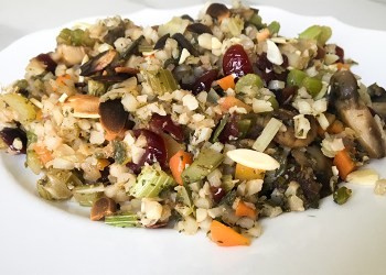 Cauliflower Cranberry Stuffing featured
