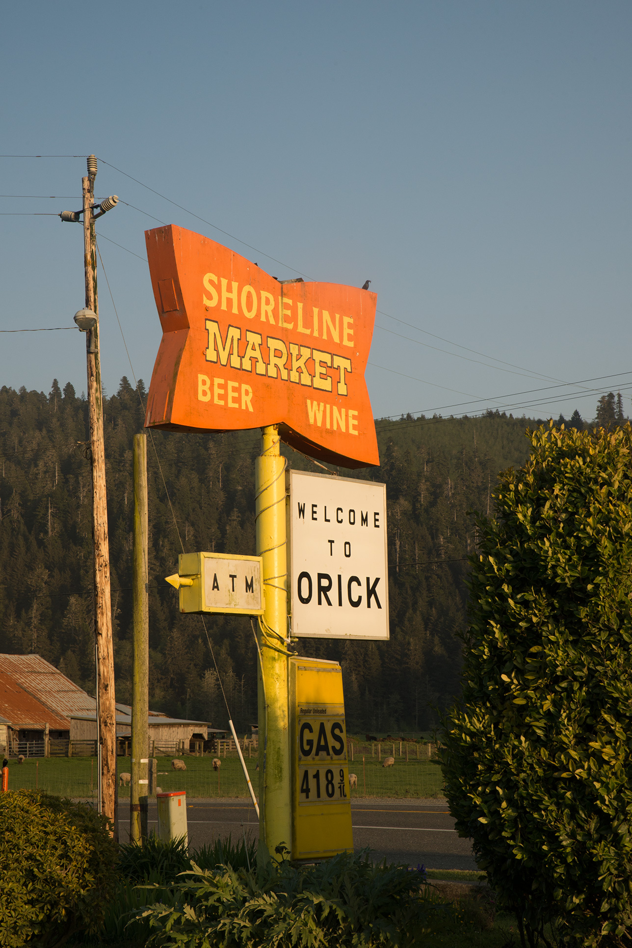 Orick is a small town with few amenities but lots of charm