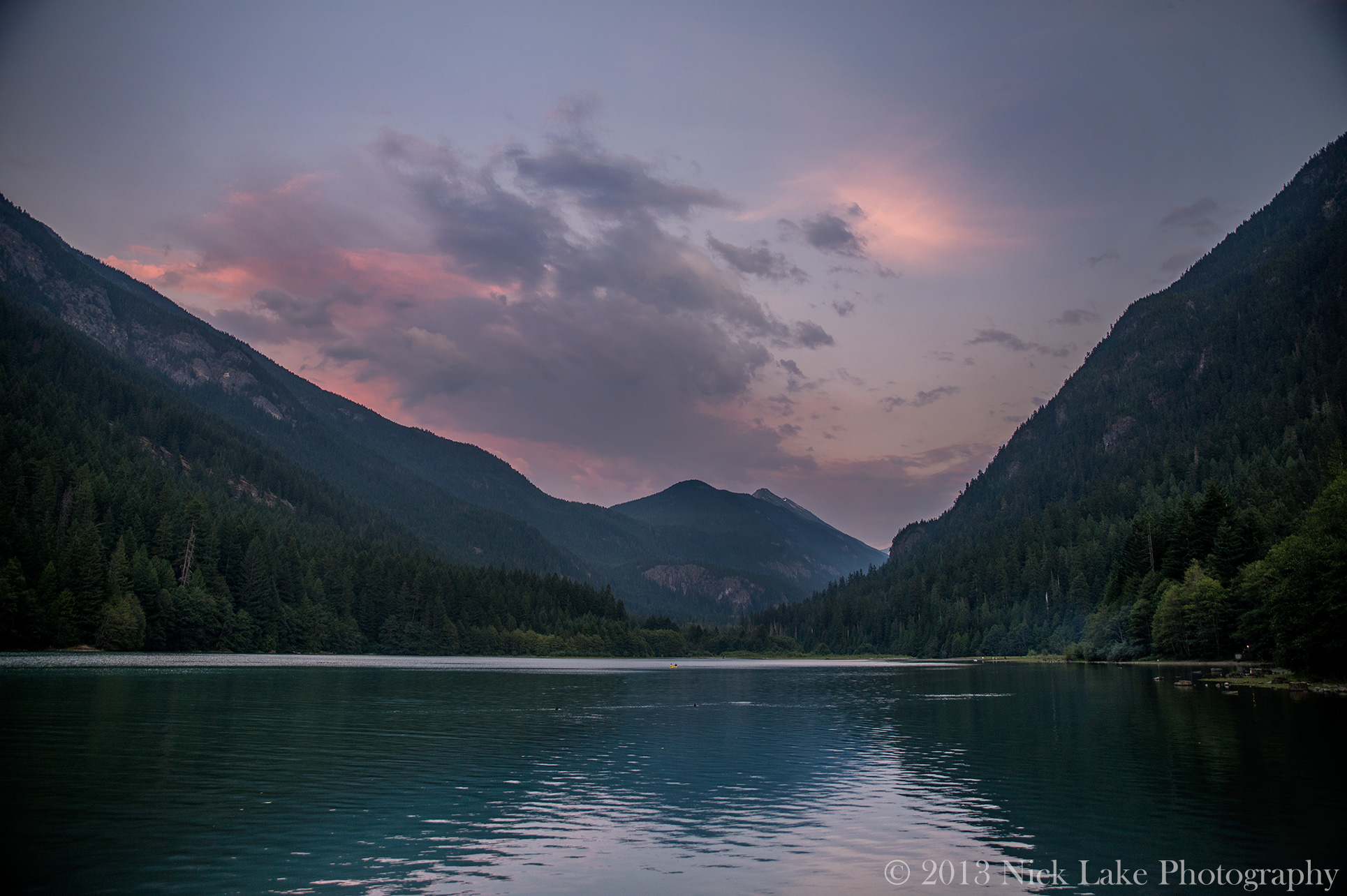 Dusk Diablo Lake North Cascades