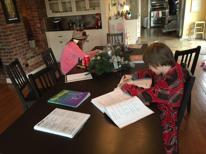 Homeschool morning