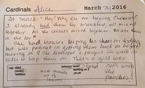 note from preschool