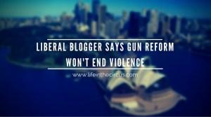 "Liberal Blogger Says, ""Gun Reform Won't End Violence."""