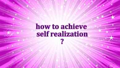 Self Realization Techniques