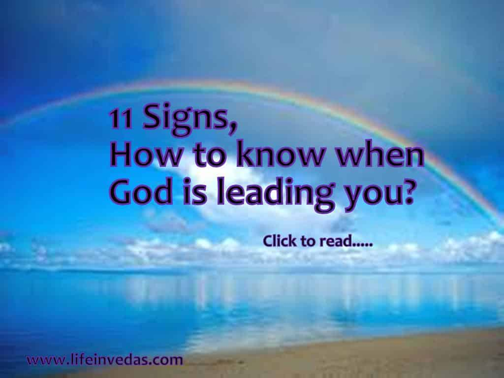 11 Signs, God Speaks to You, Leads & Guides to You - Life In